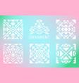 ornamental squares set vector image vector image