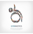 people sports gymnastics vector image vector image