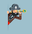 pirate buccaneer filibuster corsair sea dog vector image