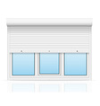 plastic window with rolling shutters 04 vector image vector image