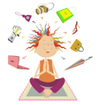 Purchases meditation vector image