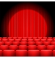 Red Curtains with Spotlight vector image vector image
