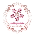 rose in bright colors in cartoon style for wedding vector image vector image