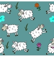 Seamless pattern with sheep colored for babyroom vector image vector image