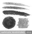 Set of Gray Watercolor Brush Strokes vector image vector image