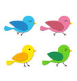 set of happy baby bird in flat style vector image vector image