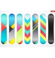 Set of Snowboards sample symbols vector image