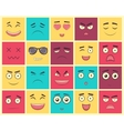 Set of square emoticons Emoticon for web site vector image vector image