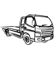 sketch large tow truck vector image
