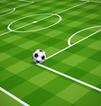Soccer field with the ball vector image vector image