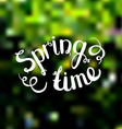 Spring background Photo overlay Spring time on vector image