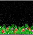 spruce christmas black night background vector image vector image