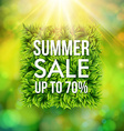 Summer sale advertisement poster Blurred