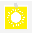 Sun shining icon Cute cartoon image Greeting card vector image vector image