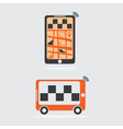 taxi online flat design vector image