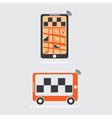 taxi online flat design vector image vector image