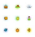 Transfer icons set pop-art style vector image vector image