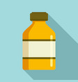 vaccine bottle icon flat style vector image vector image