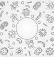 virus outline frame with place for your vector image