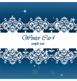 Winter card with ornaments vector image vector image
