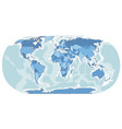 world map hand drawn blue color vector image vector image