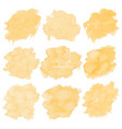 yellow watercolor set on white background vector image vector image