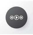 media player icon symbol premium quality isolated vector image