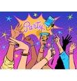 Party dancing selfie drinks vector image