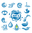 water icons vector image