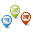 3d click here pointer vector image vector image