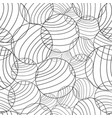 abstract circles and curved line pattern vector image