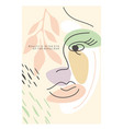 abstract girls face vector image