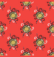 abstract seamless pattern with red circle elements vector image