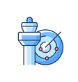 air traffic control rgb color icon