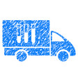 analysis delivery grunge icon vector image vector image