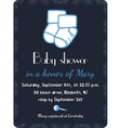 Baby shower invitation card template Invitation vector image vector image