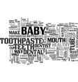 baby war on plaque attack text word cloud concept vector image vector image