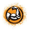 biceps flex arm rusty gym sign workout