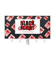 billboard with ads of black friday sale for retail vector image vector image