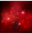 Bokeh red background vector image
