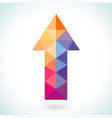 Bright colorful arrow shape in modern polygonal vector image vector image