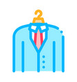 business suit costume job hunting icon vector image vector image