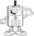 Cartoon cell phone vector image vector image