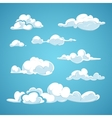 Cartoon clouds set vector image