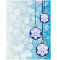 christmas background with a holiday baubles vector image