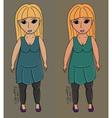 Chubby body girl vector image vector image