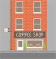 Coffee shop building vector image vector image