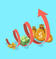 concept of financial growth business productivity vector image vector image