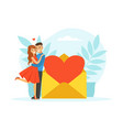 couple in love having romantic date during vector image