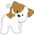 Cute Puppy Rear View vector image vector image